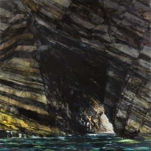 Sarah Adams, Marble Cliff, oil on linen, 170 x 170 cm