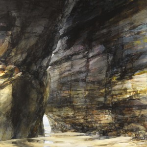 Sarah Adams, Porthmissen, morning, oil on linen, 120 x 120 cm