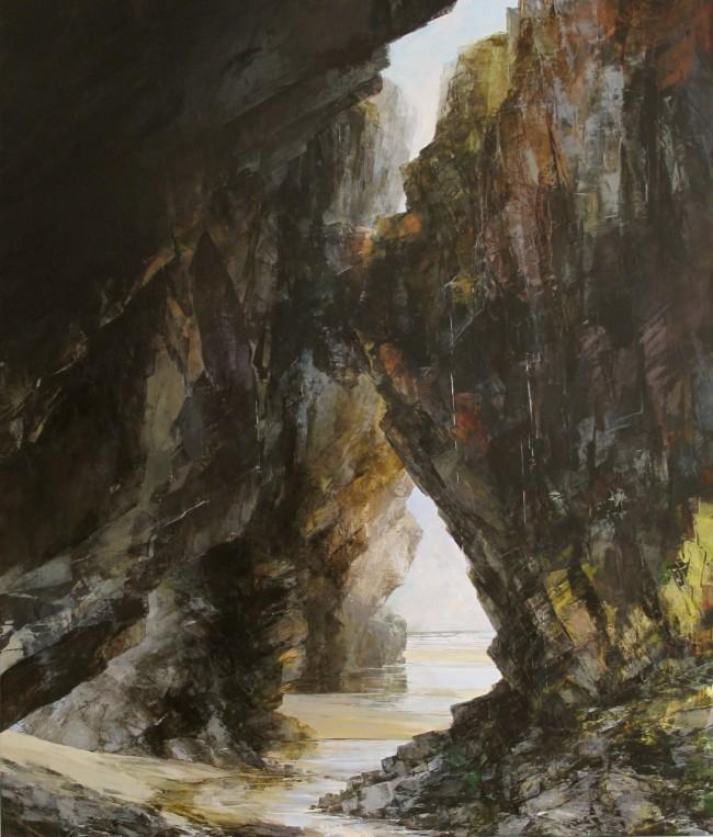 Sarah Adams, 'Cave System at Chapel Porth', oil on linen, 140 x 120 cm