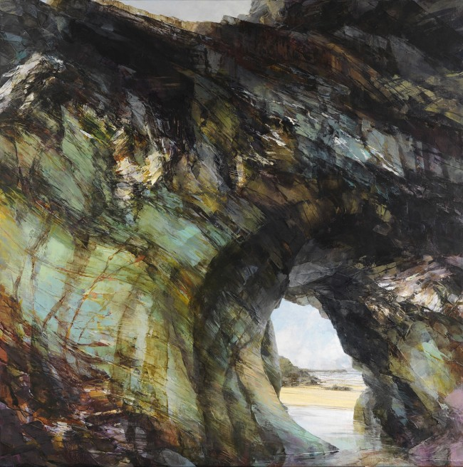 Sarah Adams, 'Arch at Tregurrian', oil on linen, 120 x 120 cm