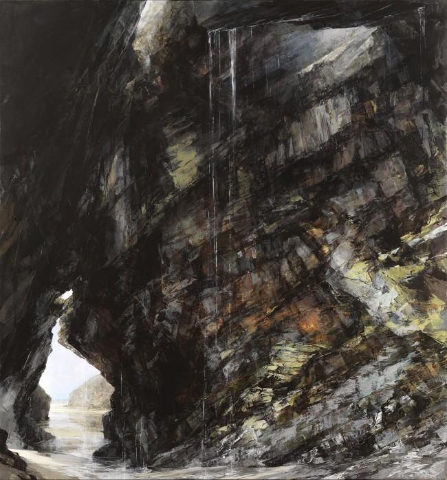 Sarah Adams, 'Behind the waterfall', oil on linen, 150 x 140 cm