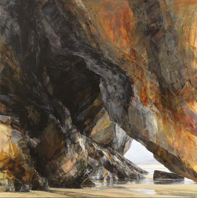 Sarah Adams, 'Carnewas, warm light', oil on linen, 120 x 120 cm