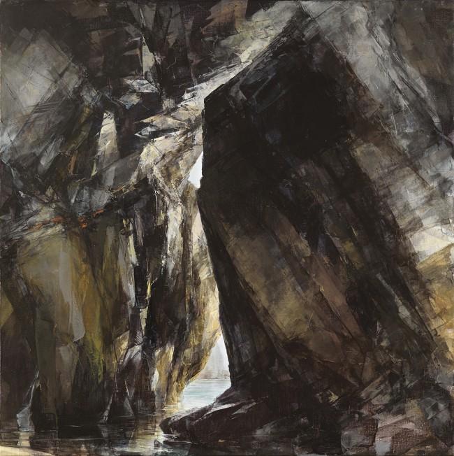 Sarah Adams, Porthmissen, Uplit, oil on linen, 70 x 170 cm