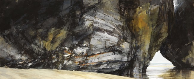 Sarah Adams, 'Rock formation at Diggory's', oil on linen, 70 x 170 cm