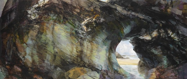 Sarah Adams, 'Tregurrian 2', oil on linen, 60 x 140 cm